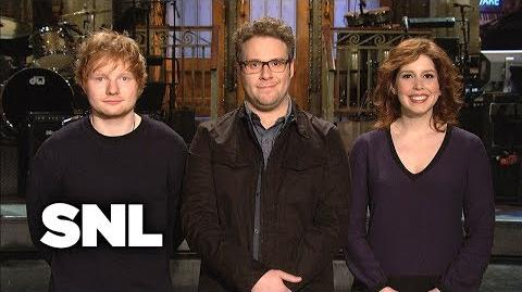 SNL Promo Seth Rogen and Ed Sheeran