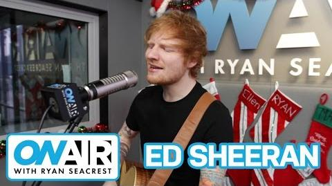 """Ed Sheeran """"Thinking Out Loud"""" Acoustic On Air with Ryan Seacrest"""