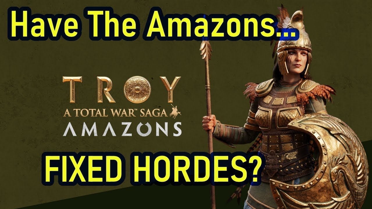 Has Troy Fixed Hordes? Hordes in The New Amazons DLC - A Total War Saga: TROY