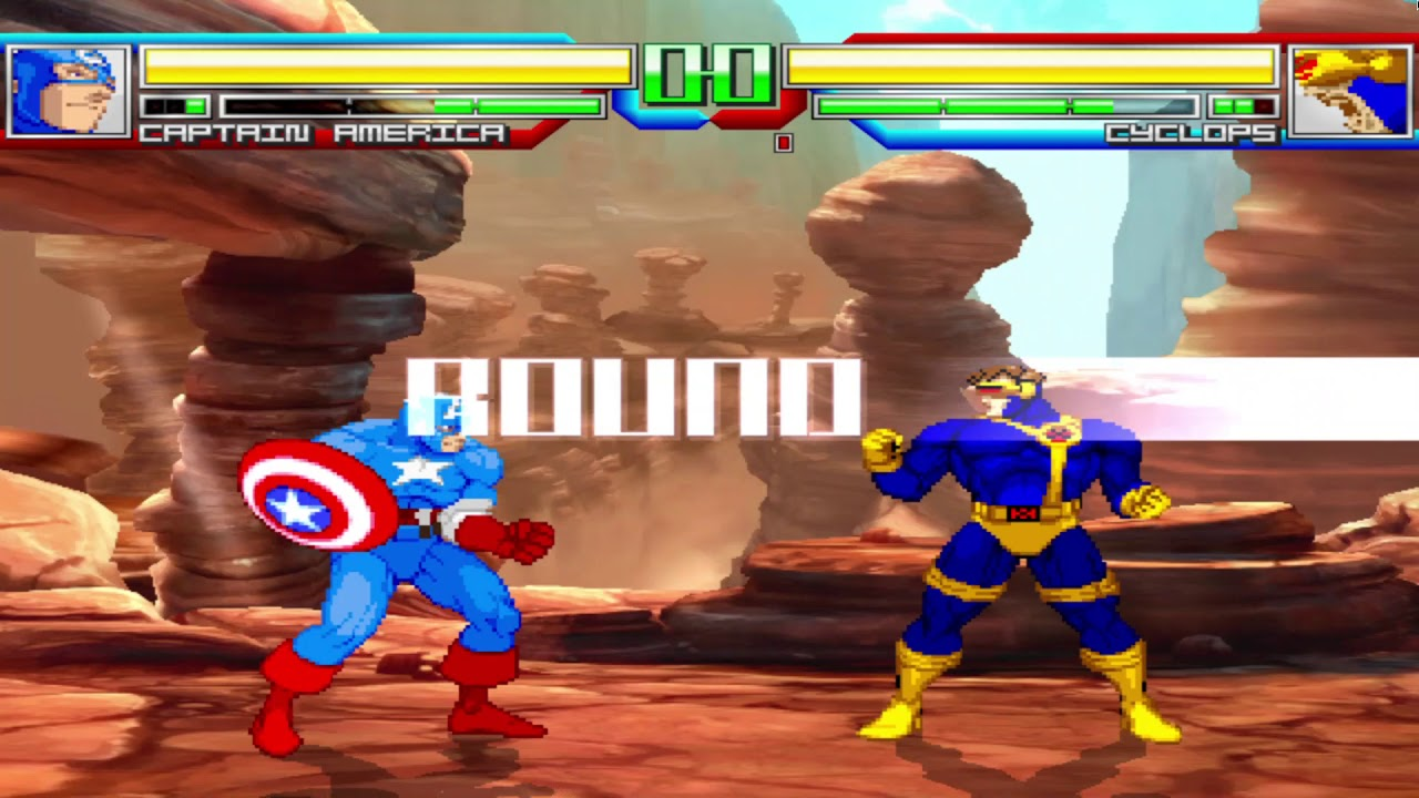 Battle of The Boy-scouts Captain America VS Cyclops