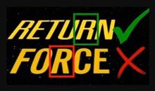 """Screenshots of the word """"RETURN"""" from the Return of the Jedi title and """"FORCE"""" from The Force Awakens title, with the R from the former check-marked and the R in the latter X'd, as the font changed between the two films."""
