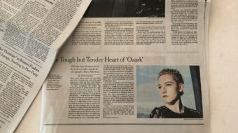 """Julia Garner 🐰 on Instagram: """"Today's paper! Thank you @nytimes for the article. Talking all things @ozark! I'm a native New Yorker so this is very exciting! 📰☕️♥️"""""""