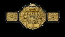EWA World Heavyweight Championship belt