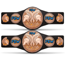 An image of the FZW World Tag Team Championships.