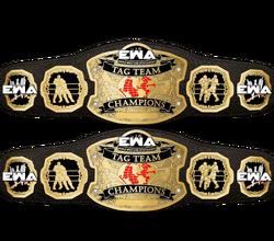 EWA World Tag Team Championship belts