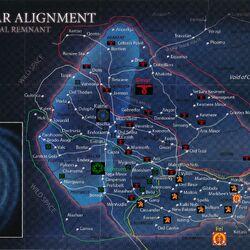 1. Taktikai térkép - A Maradvány felosztása
