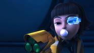 Roza Blowing Bubblegum With Using Atlas