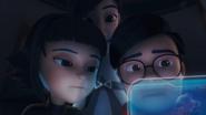 Moon, Roza & Khai Watching The Fighting