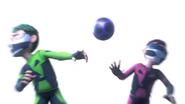 Seis & Siete Hit By Ball
