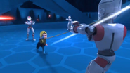 Iman attacking Droid