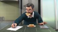 Dr. Ghazali Eating Bread & Writing