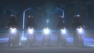 Five People Riding Motor