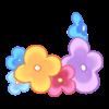 Bransoletka na nogę Kwiaty z ogrodu