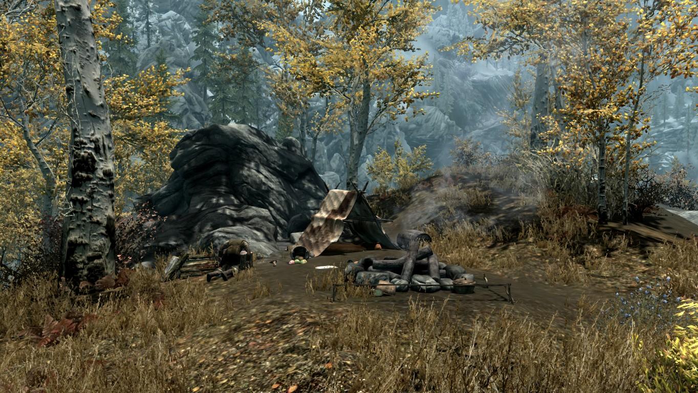 Лагерь дровосека