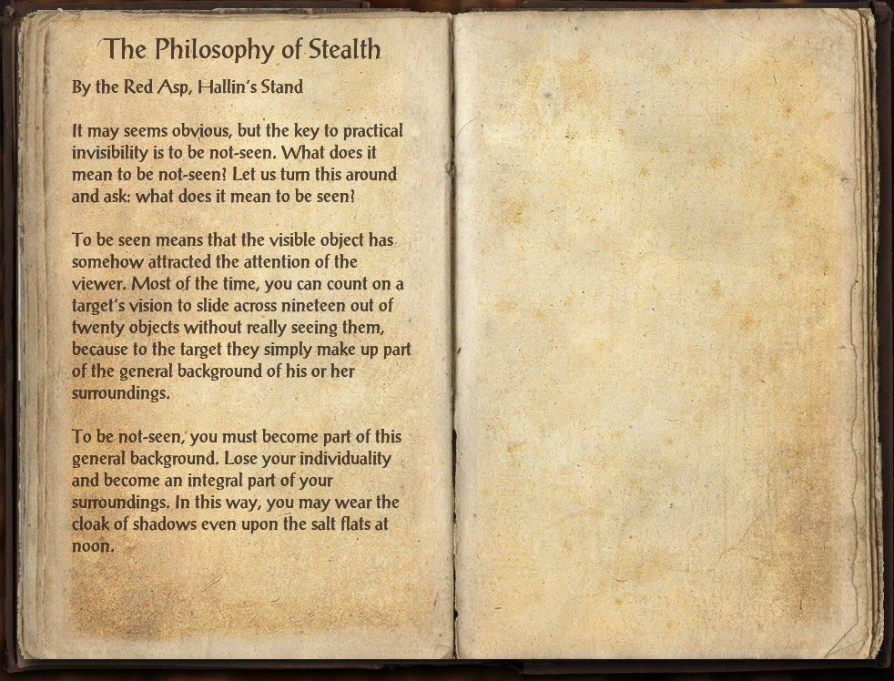 The Philosophy of Stealth