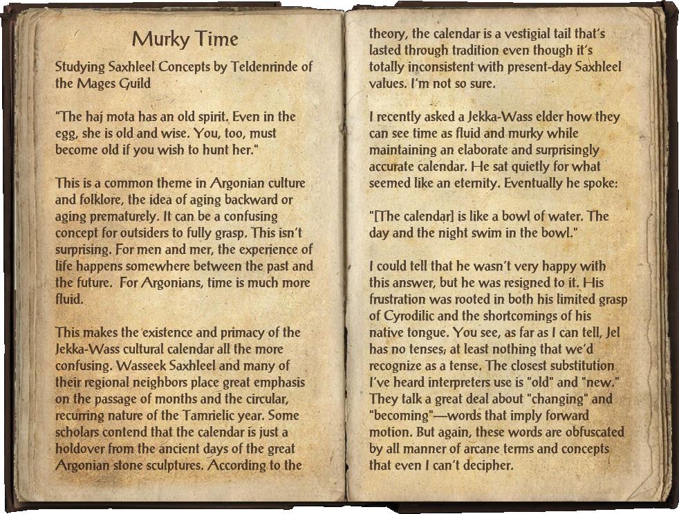 Murky Time