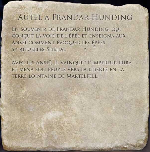 Autel à Frandar Hunding