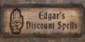 TESIV Sign EdgarsDiscountSpells