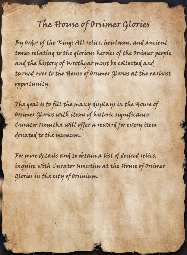 The House of Orsimer Glories
