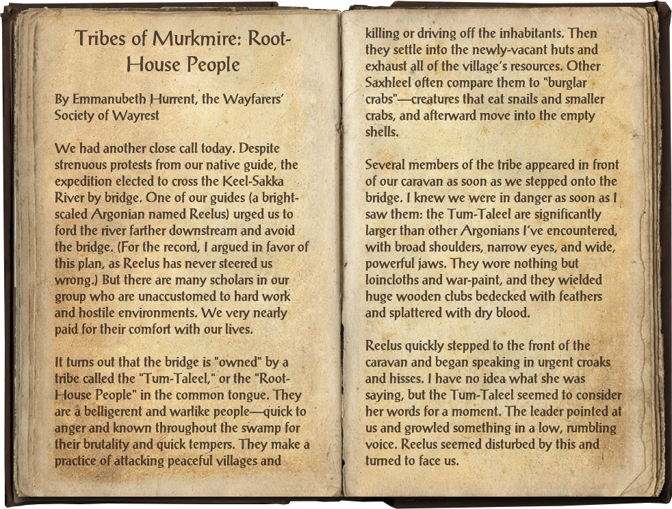 Tribes of Murkmire: Root-House People