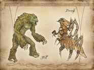 Troll i Dreugh lądowy (Conceptart)