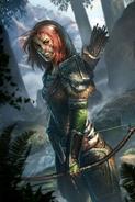 Aela the Huntress Legends Cart Art