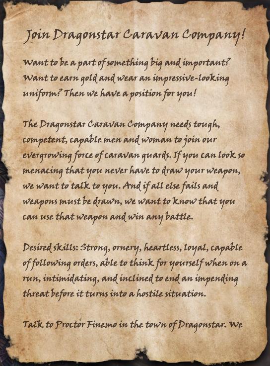 Join Dragonstar Caravan Company!