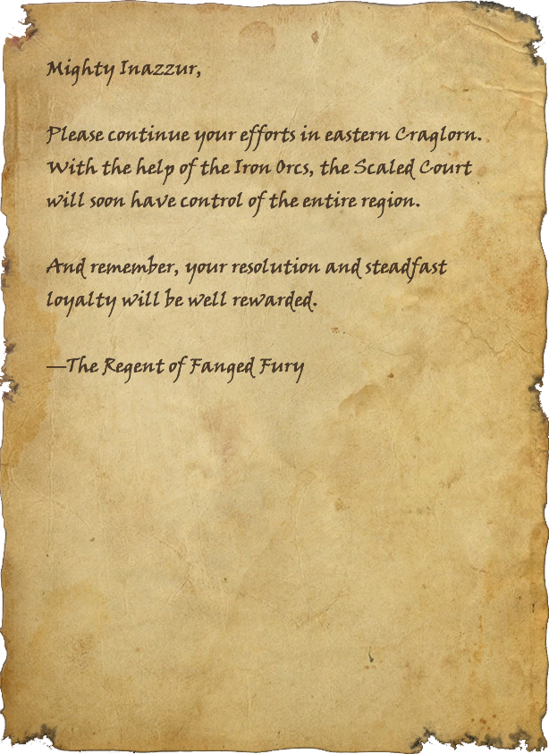 From the Regent of Fanged Fury