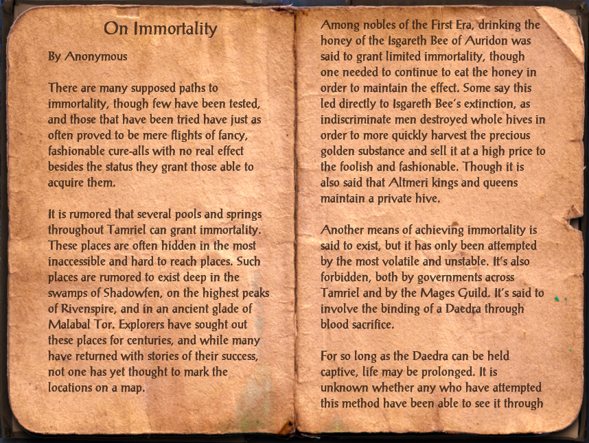 On Immortality