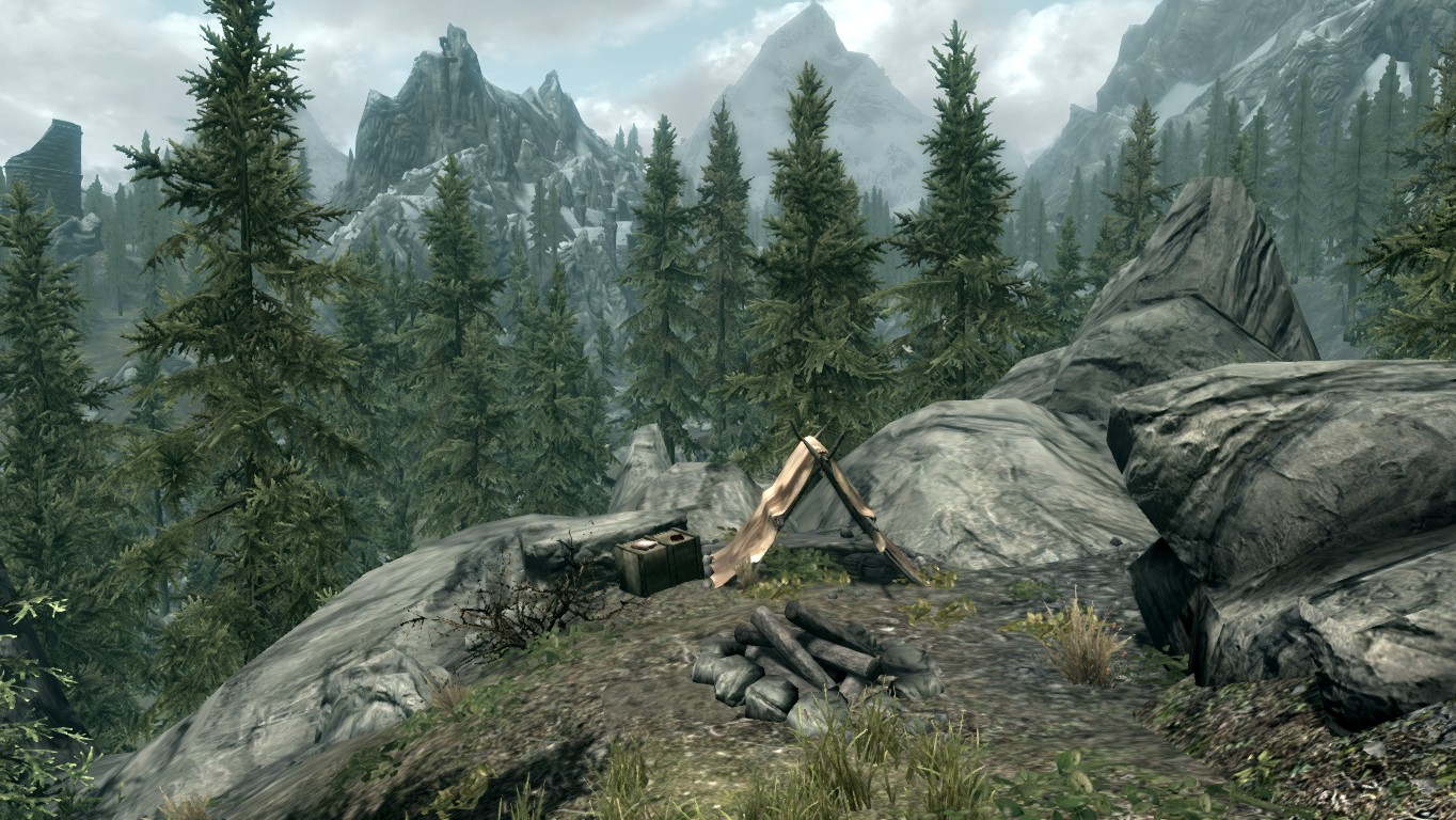 Лагерь охотников на медведей