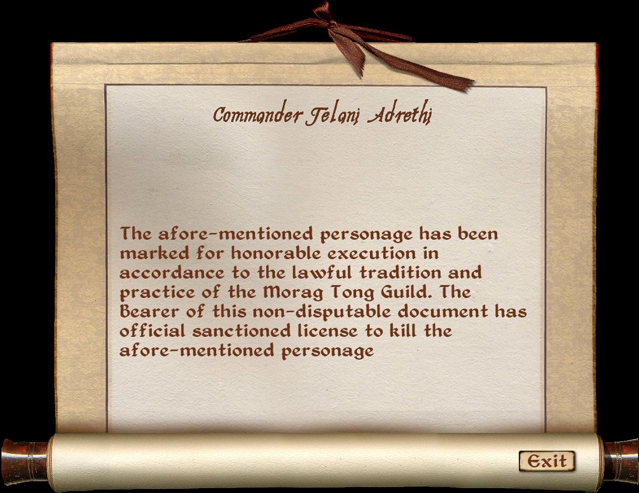 Soiled Writ of Assassination