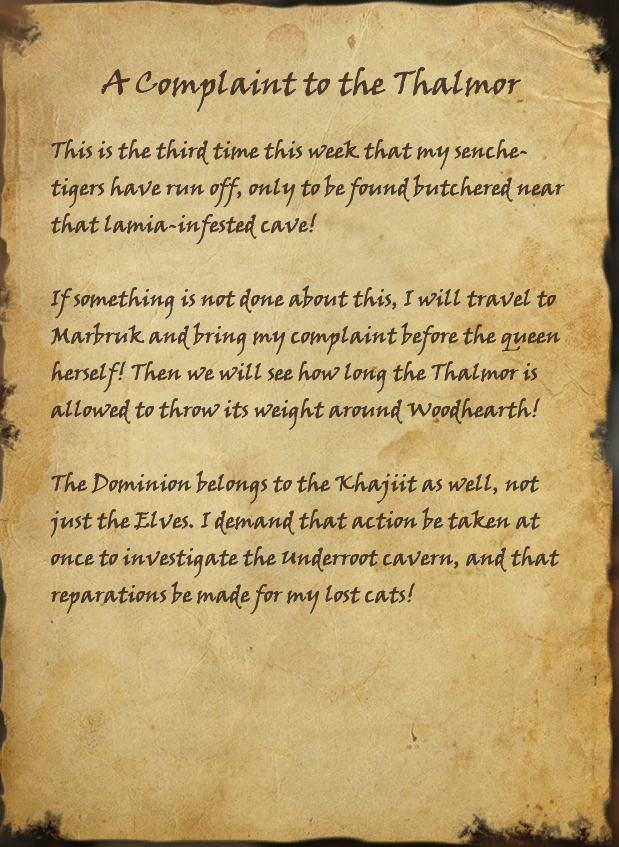 A Complaint to the Thalmor