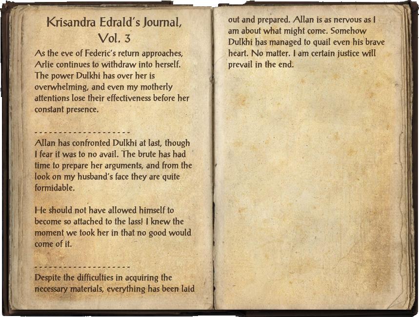 Krisandra Edrald's Journal, Vol. 3