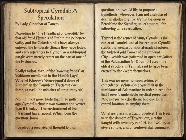 Subtropical Cyrodiil: A Speculation