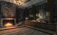 Кухня. Рабочий стол и камин