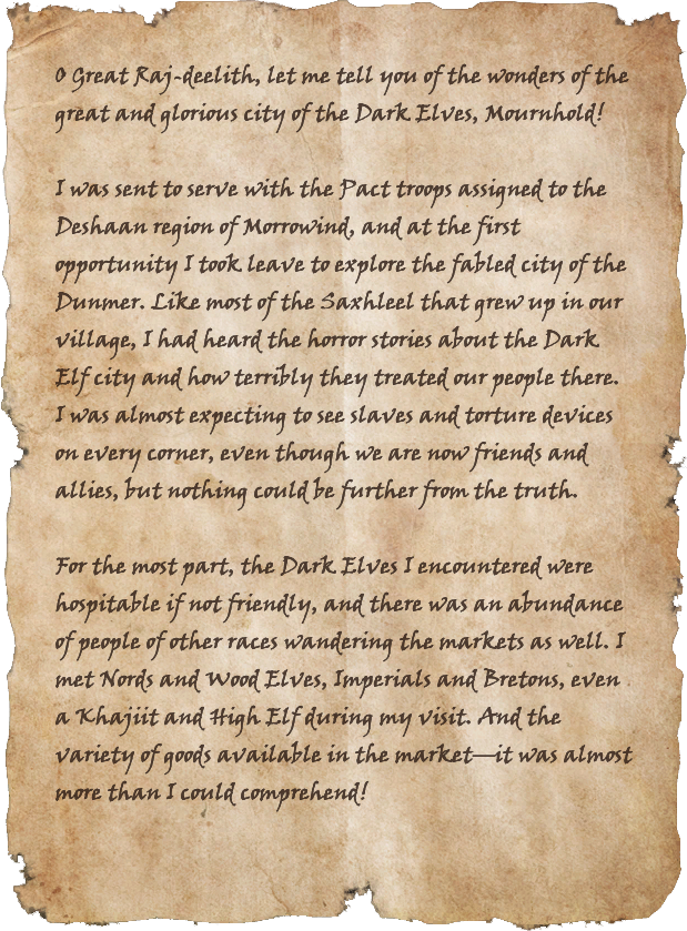 Letters from the War: Mournhold