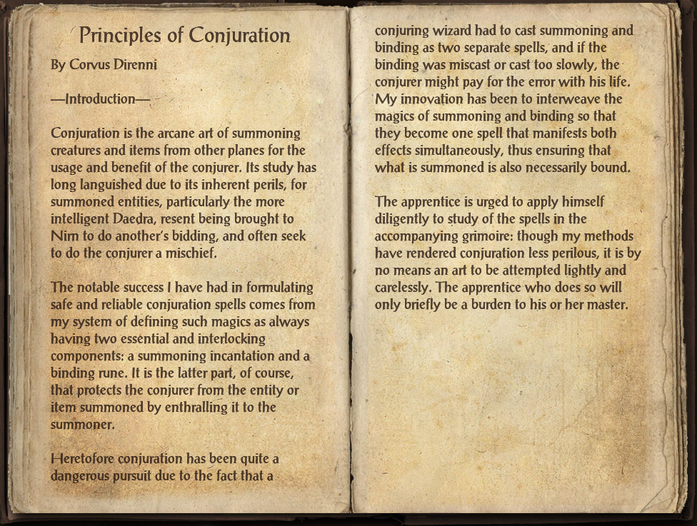 Principles of Conjuration