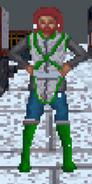 Mężczyzna z Wysokiej Skały podczas zimy (Arena)