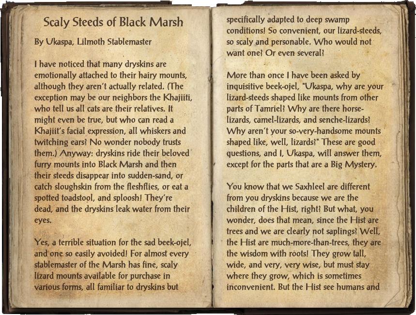 Scaly Steeds of Black Marsh
