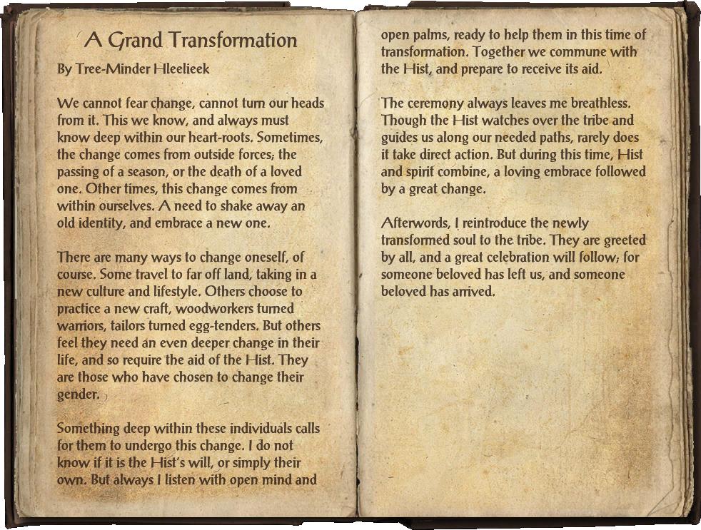 A Grand Transformation