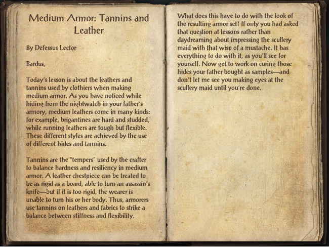 Medium Armor: Tannins and Leather