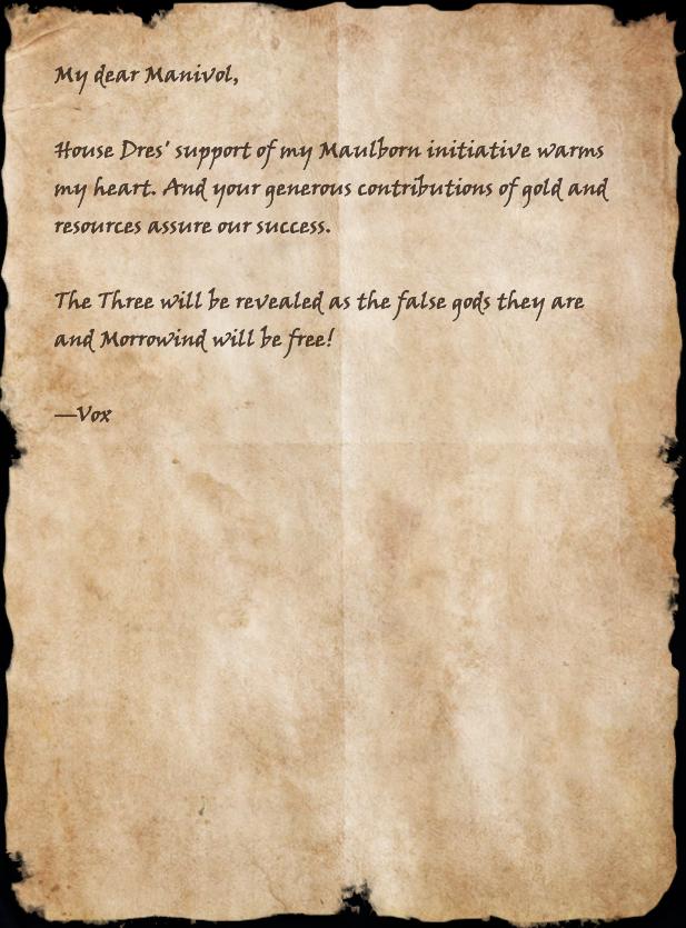Letter from Magistrix Vox