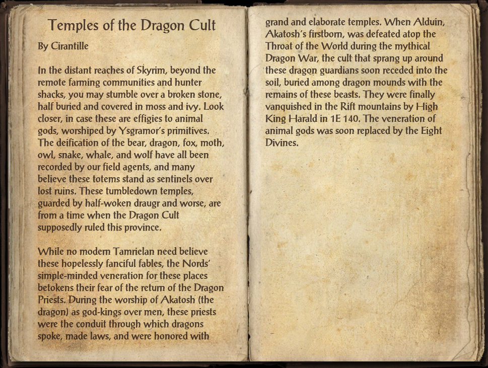 Temples of the Dragon Cult