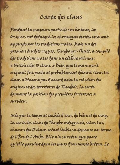 Carte des clans (Livre)