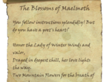 The Blossoms of Maelmoth