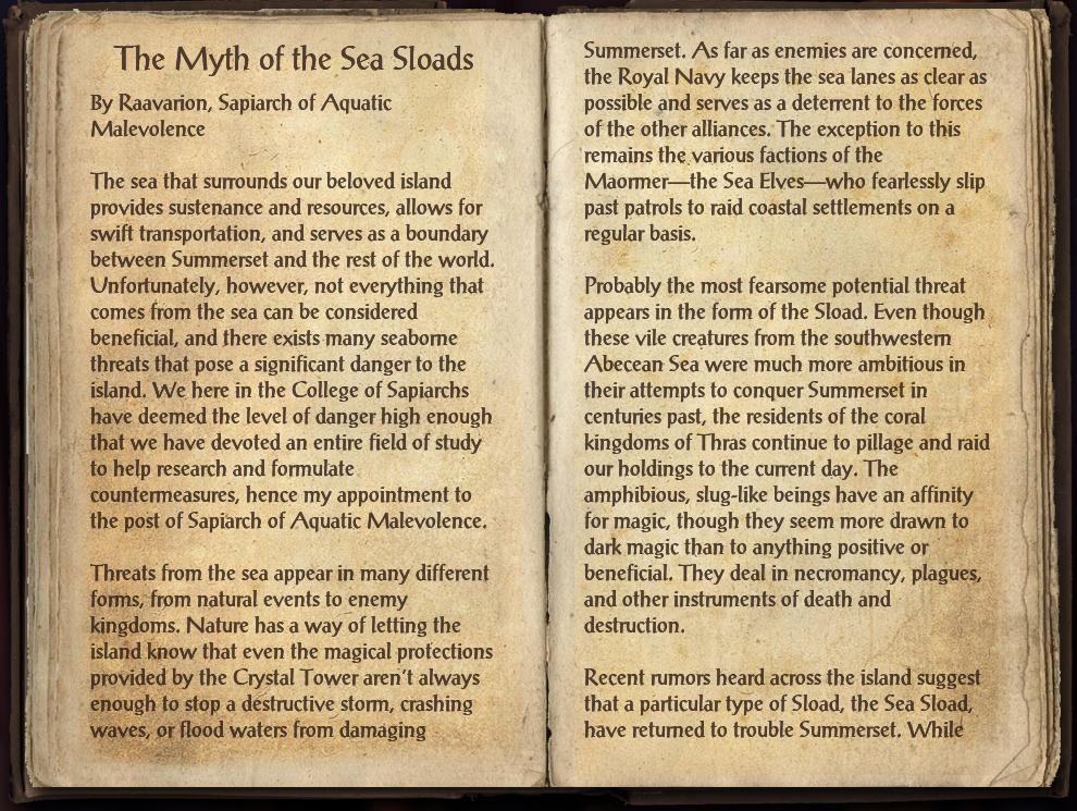 The Myth of the Sea Sloads