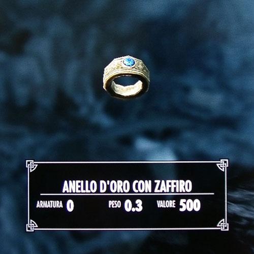 Anello d'oro con zaffiro