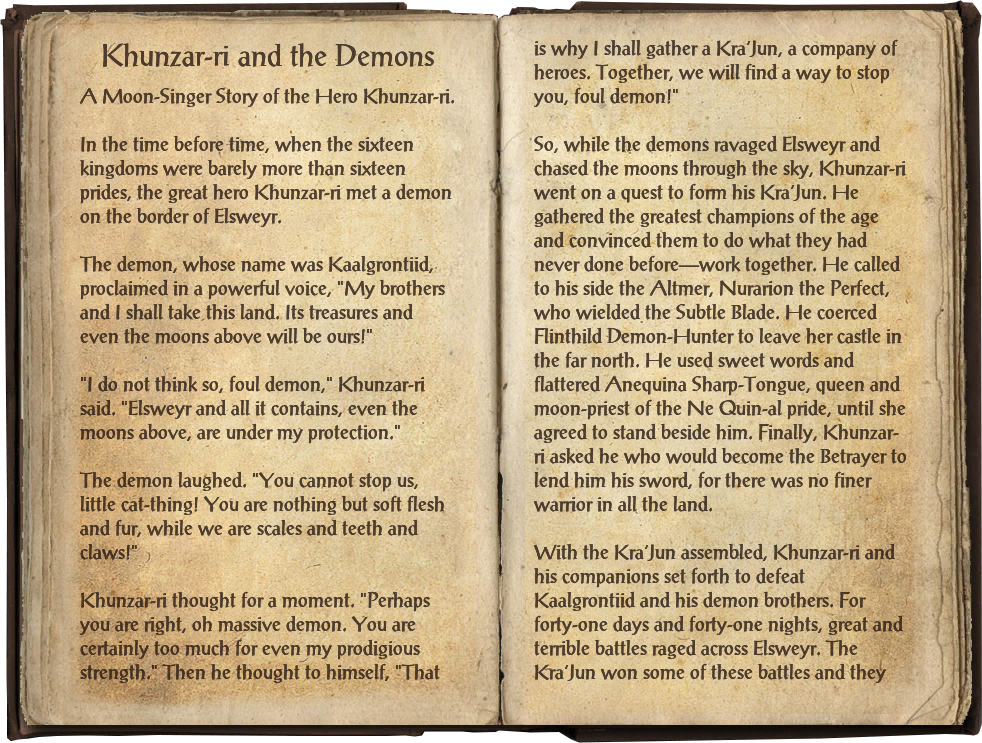 Khunzar-ri and the Demons