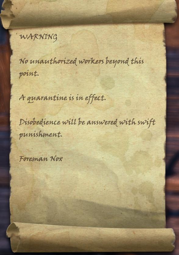 Quarantine Notice
