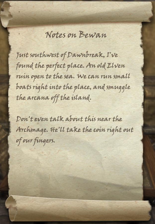 Notes on Bewan